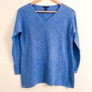 Eileen Fisher Sweater V-Neck Long Sleeve Petite